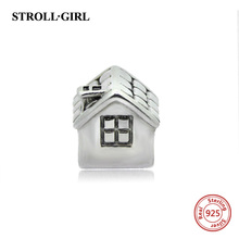 Original 925 Sterling Silver LOVE house charm diy jewelry making Fits Pandora Bracelets Charms fashion DIY Jewelry free shipping