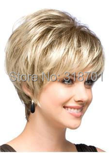 Natural Blonde Straight Lambskin Short Wig For Woman free shipping<br><br>Aliexpress