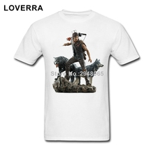 Short Sleeve Walking Dead Daryl Dixon Wolves Statue Men T-Shirt Cotton Oversize TShirt Man Summer Best Fitness Tee Shirt Male
