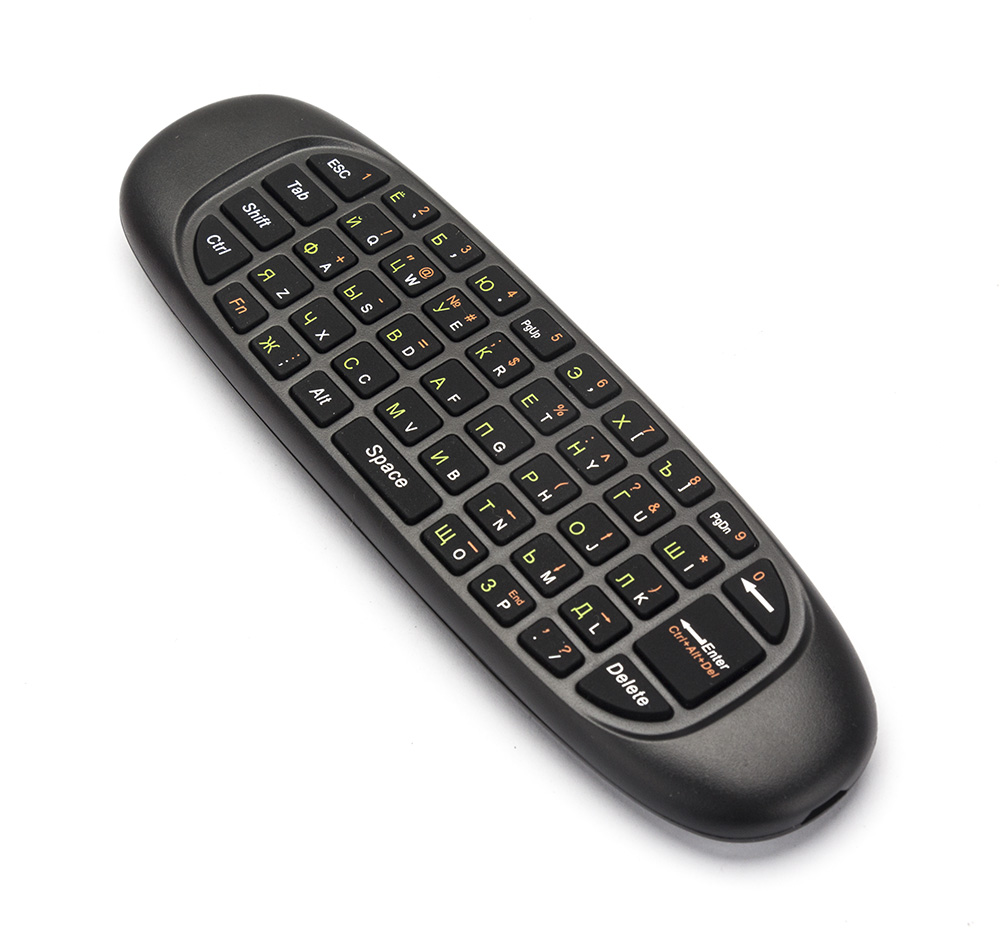 2.4GHz Air Mouse Wireless Keyboard Handheld Play Game Remote Control Smart TV BOX PC black 15 7