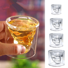 Skull Glass Four Sizes Halloween Decoration Beer Glass Creative Party Drinkware Transparent Whisky Supplies(China)