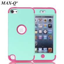 MAX-Q 3-in-1 Phone Shock Proof Back Cases For ipod touch 5 5th Generation Hard &Soft Rubber Hybrid Armor Case Cover