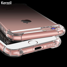 Kezzil Top Quality Airbag Design Anti-knock Case for iPhone 7 6 Plus Crystal Clear Soft TPU Phone Cover Case for iPhone 6 6s 7(China)