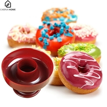 CABINA HOME 1Piece DIY Donuts  Food Grade Plastic Doughnuts Maker Cutter Fondant Cake Bread Desserts Bakery Baking Mould
