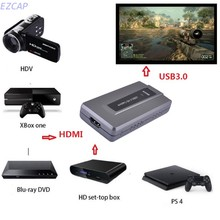 2017 new usb3.0 video audio capture card, 1080P 60fps HD, convert HDMI video to USB3.0 for windows. mac, linux  Free shipping