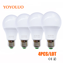 4PCS/Lot LED Bulb Lamps E27 110 220V Light Bulb Smart IC Real Power 3W 5W 7W 9W 12W 15W High Brightness Lampada LED Bombillas(China)