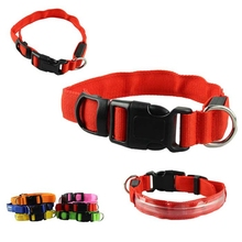 Led Dog Collar Light Glow Pet Cat Dog LED Collar Safety Necklace Flashing Lighting Up Dog Supplies Collier Pour Chien $7412(China)
