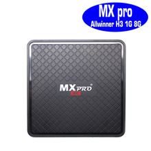 MXpro Android 7.1 tv box Allwinner H3 1GB RAM 8GB mxq pro 4k MX pro mxqpro mxq-4k quad core can subscribe IPTV Arabic Europe(China)