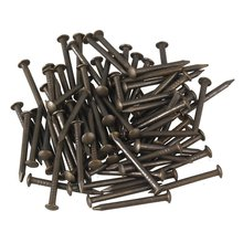 18 x 1.3mm Round Head Black Copper Antique Roofing Nails for Furniture Pack of 50(China)