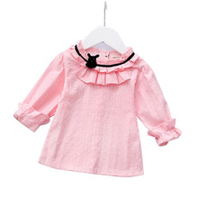 2017 Full Solid Sale Promotion Spring Models Korean Girls Long Sleeves Princess Bottoming Shirt Fine Children's Clothing Cute