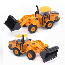 6 In 1 Pull Back Truck Toy Alloy Vehicles Model Toy Car Mini Tractor China Crane Toys For Children High Quality Novelty Gift(China)