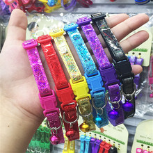 Pet Puppy Dog Cat Kitten Soft Glossy Reflective Collar Safety Buckle with Bell