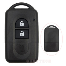 2 Buttons Replacement Smart Key Card For Nissan nissan qashqai accessories juke almera tiida  Remote Control Key Case shell Fob