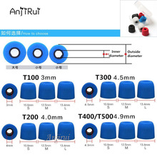 40pcs/20pairs T500/T400 Caliber Ear Pads/cap Comply 4.9mm memory foam eartips for ear Headphones tips Sponge Headset accessories
