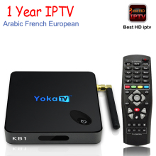 YOKA KB1 Android TV Box add 1 Year IPTV Amlogic S905X 64 bit Quad-core Android 6.0 Set Top Box WiFi HDMI 2.0 UHD 4K Media Player