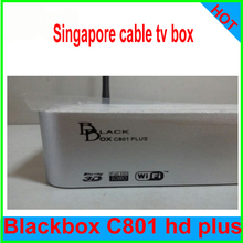 1pcs Singapore TV box star hub set top box cable receiver Black box C801 HD plus upgrade C801 HD ch football game builtin wifi(China)