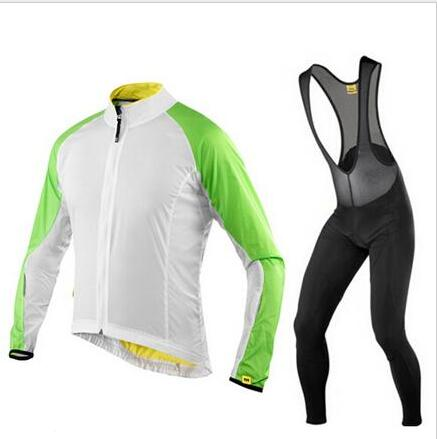 Mavic Cycling Jerseys Autumn/Spring Thin Long Sleeves Cycling Set Ropa Ciclismo Bike MTB Clothing Pants Suit 9D Gel Pad T252<br>