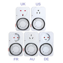Hot sales 24 Hour Timer Programmable Switch Plug Power Mechanical Electrical Program Energy Saver