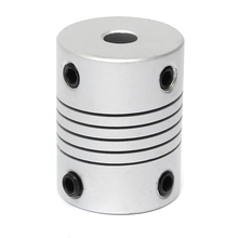 3D Printer 5x8mm Motor Jaw Shaft Coupler 5mm To 8mm Flexible Coupling OD 19x25mm Router Connector(China)