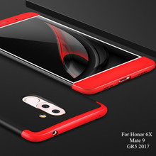 GKK Honor6X Double Dip Armor Phone Case For Huawei Honor 6X Case Thin GR5 2017 BLL-L21 Mate 9 Lite Phone Cover Matte Cases(China)