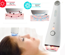 Photon LED Therapy Vibration Facial Massage Machine Warm Cold Therapy Skin Relax Face Lifting Tighten Eye Spa Massager