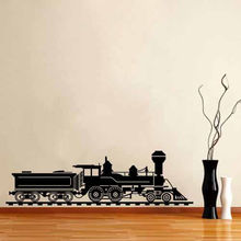 Free shiping DIY Wall Vinyl Stickers Decals Home Decor Mural Wall Poster Art Train Locomotive Railroad