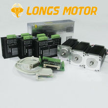 Promotion 3 Axis 425oz-in Nema23HS9430 stepper motor 3A&driver DM542A peak 4.2 A 128 microsteps CNC ROUTER