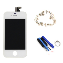 For Apple iPhone 4s LCD Display Touch Screen Digitizer Assembly+Tools+Screws Free Shiping