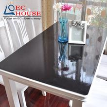 PVC Tablecloth Table mats black matte waterproof disposable anti scald oil proof soft material glass FREE SHIPPING