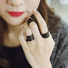 R224  3pcs/lot Fashion Matte Black  Opening Pinky Ring Jewelry Accessories Women Finger Rings Anel Anillos Bjoux HOT Sale