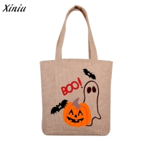 New Halloween Printing Shopping bag Gift Canvas Tote Casual Beach Shopping Bag Handbag Shoulder Bags bolsa feminina(China)