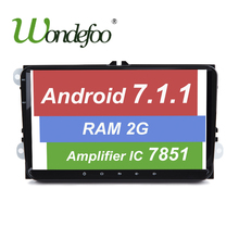 "9""Android 7.1 CAR GPS for Seat Altea Leon Toledo VW Passat POLO golf 5 6 SKODA navigation RAM 2G ROM 32G radio NO dvd player"