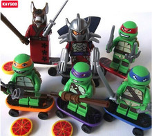 Kaygoo 6pcs Phantom Ninja Action figures Building Toy Kids animal Turtles Blocks Gift to children super hero figure Bricks