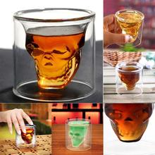 Party Creative 75ml Clear Shot Glass Crystal Skull Head Vodka Wine Cup Champagne Glasses PML