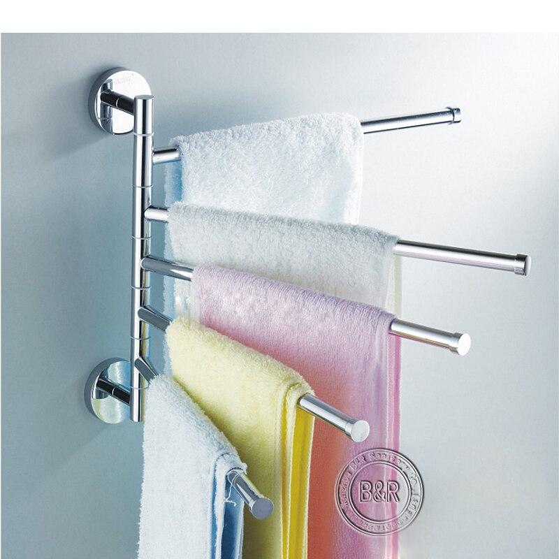 Freeshipping BAKALA Fashionable space aluminum 5 bars flexible 180 degree rotating moving Towel rack towel rail towel rod  <br><br>Aliexpress