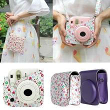 2017 NEW Mini Camera Shoulder Strap Bags Case Pouch Candy colors Leather For Fuji Fujifilm Instax Mini 8 For Women Gifts