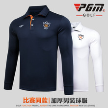 PGM Brand Men Long Sleeve Top Polo Shirt Sportswear ropa de golf Slim Table Tennis Tshirt Breathable White Navy Blue Dry Fit New(China)