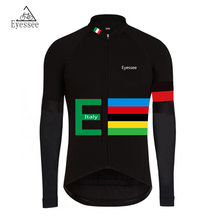 Breathable long-sleeved clothing Tour of Italy cycling jersey / 2017 Eyessee mountain MTB racing long-sleeved bicycle clothing