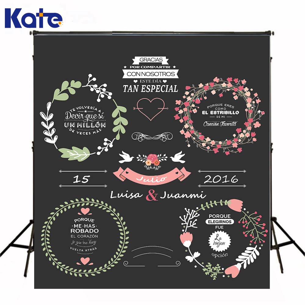 Kate Custom Made Wedding Blackboard Backdrop Photography Also For Wedding Signature Background Can Change All Words,Color<br>
