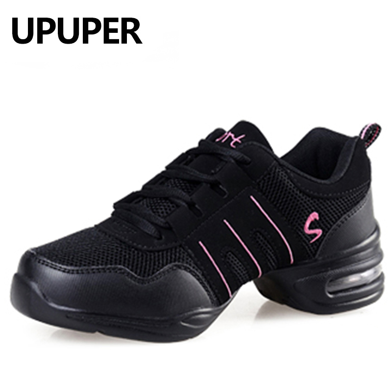 Soft Outsole Breath Dancing Shoes For Women Modern Jazz Dance Shoes Sports Feature Practice Dance Sneakers Big Size34-42(China)