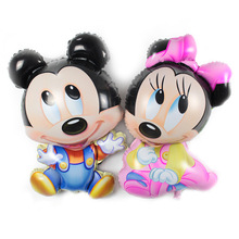 1pcs Meng Meng rice rat balloon cartoon modeling aluminum foil balloon party wedding birthday decoration Mickey Minnie balloons