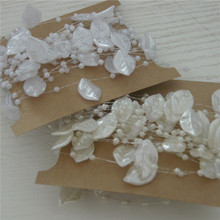5m/lot Ivory/White Artificial Leaf Pearl Beads Garland Wedding Centerpiece Table Decoration Crafting DIY Party Accessories