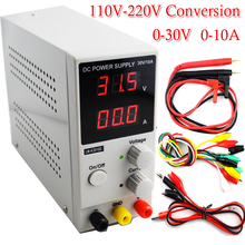 Mini Adjustable Digital DC power supply 30v 10a Switching Power supply 110v-220v For laptop phone repair