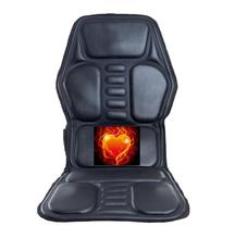 Car Home Office Full-Body Massage Cushion.Heat Vibrate Mattress.Back Neck Massage Chair Massage Relaxation Car Seat 12V