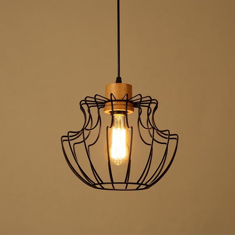 Vintage Iron Pendant Light Industrial Loft Retro Droplight Bedroom Restaurant Dinning Room American Style Hanging Lamp WPL031<br>