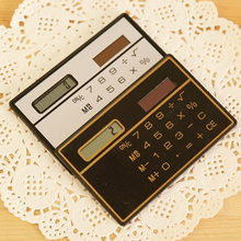 NOYOKERE Good Sale Slim Credit Card Cheap Solar Power Pocket Calculator Novelty Small Travel Compact