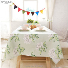 XYZLS High-quality Pastoral Style Table Cloth Floral Cotton Tablecloth Rectangle Home Textile Free Shipping