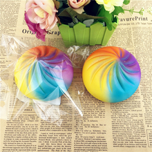 Kawaii Squishy Slow Rising Jumbo 9CM Steam Bun Mochi Soft Squeeze Cute Cell Phone Strap Bread Scented Stretchy Toy Gift Pendant