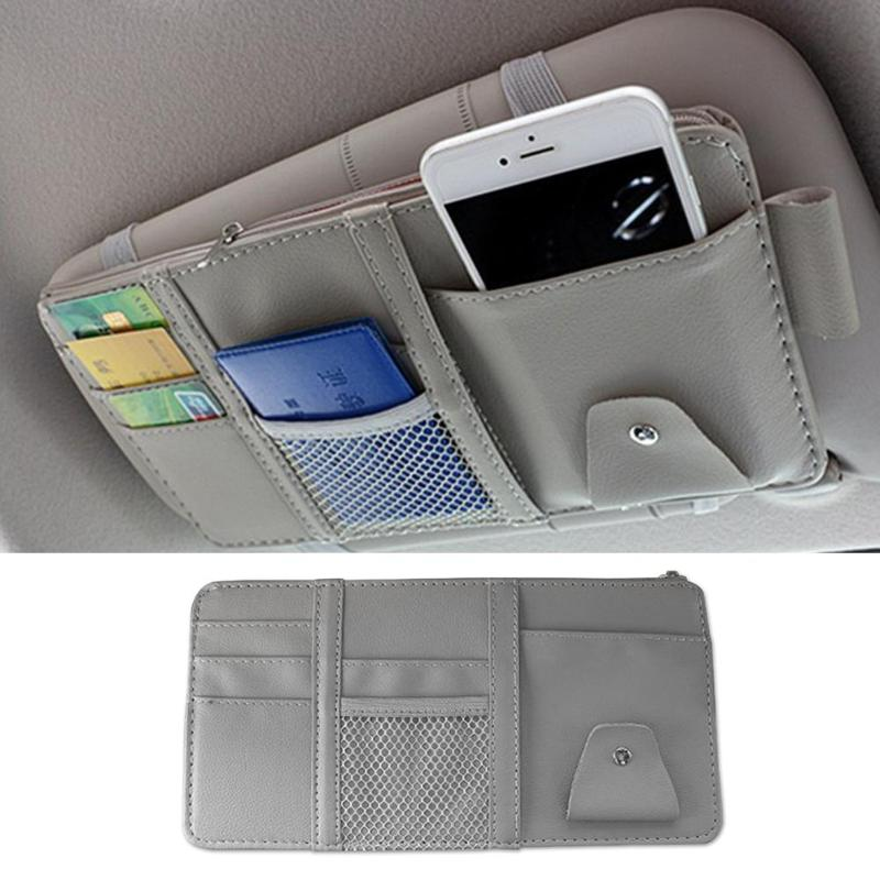 Lukling CAR Sun Visor Organizer with 4 Pockets and 2 Pen Holders