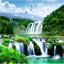 Beibehang HD custom any size photo wallpaper 3d waterfall beautiful natural landscape home decoration wallpaper for walls 3 d(China)
